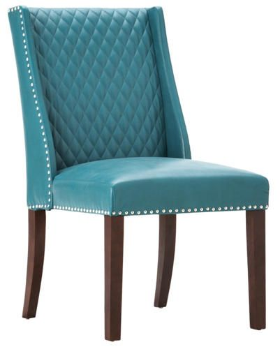Warner Teal Parsons Chair   Art Van Furniture
