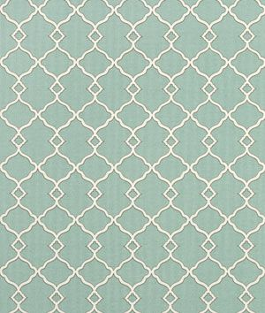 Shop Waverly Chippendale Sun N Shade Fretwork Mineral at onlinefabricstore.net for $9.75. Best Price & Service.