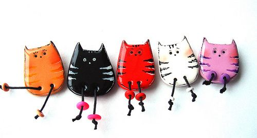 Polymer Clay. Cats