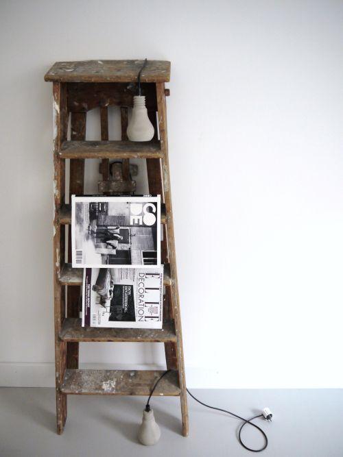 vintage and rustic ladders