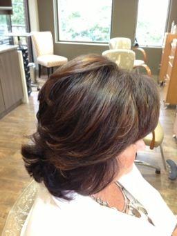 haircolor soft highlights lowlights medium haircut