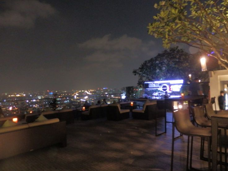 Rooftop bar at the Millennium Hilton, Bangkok