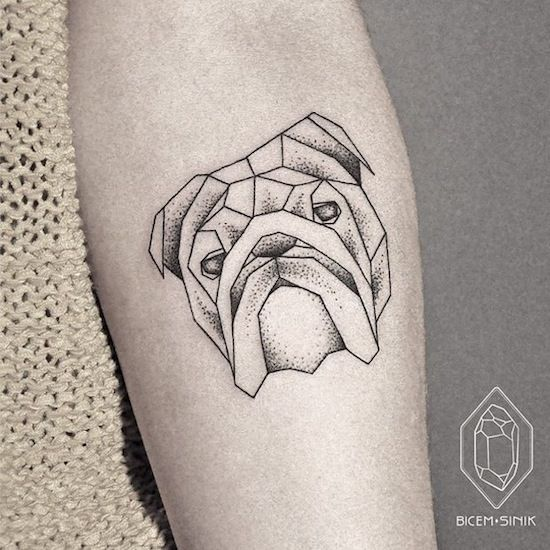 bulldog by Bicem – Sinik, Istanbul, Turkey | dog tattoos