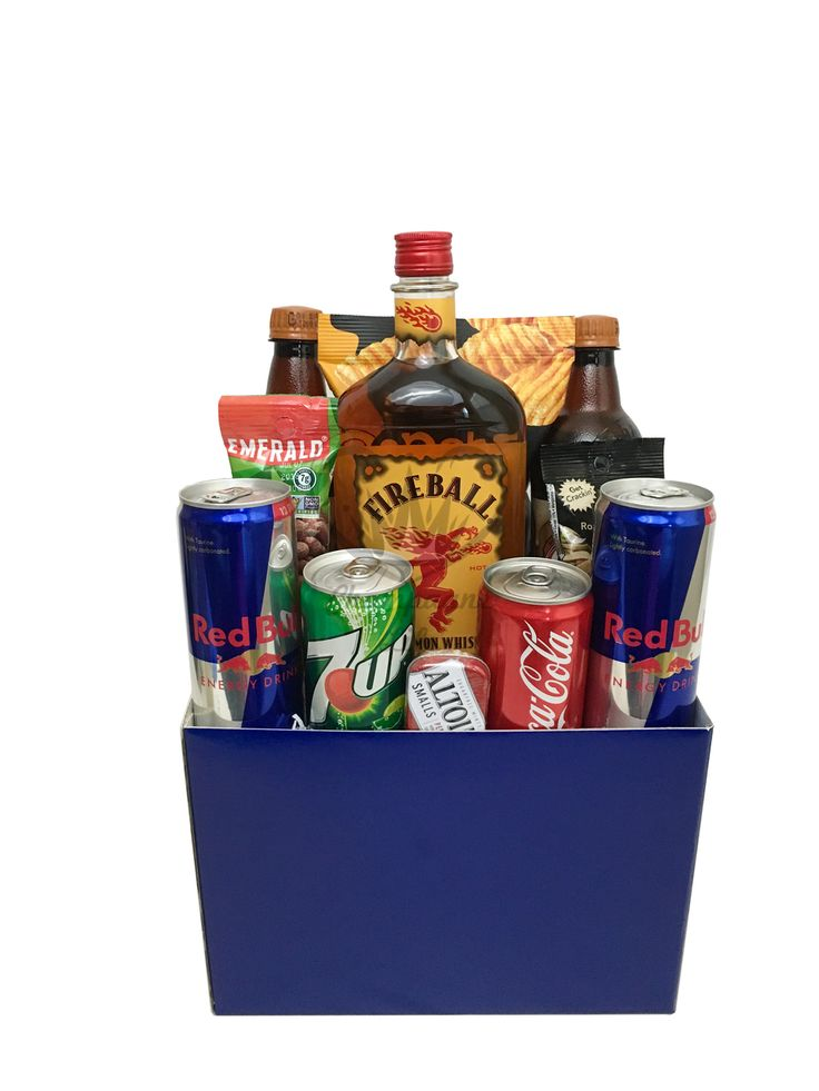 The Fireball Whiskey Gift Box is available for same day delivery in Las Vegas, NV. Alcohol gift baskets available in a variety of 750 ml bottle liquors! Buy today at champagnelifegifts.com.