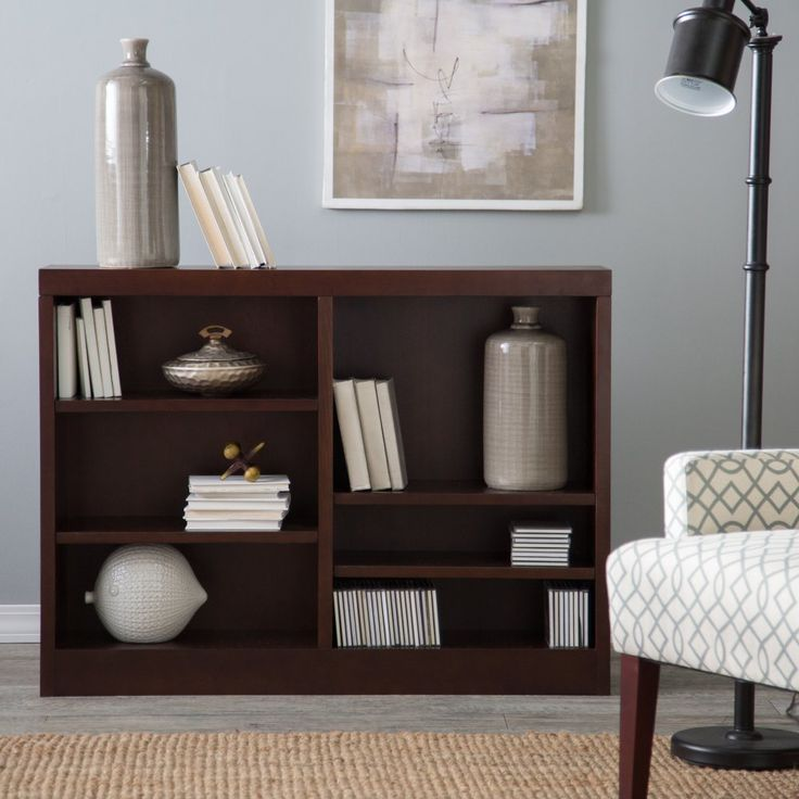 Belham Living Jefferson Double Wide Bookcase - Espresso - Bookcases at Hayneedle