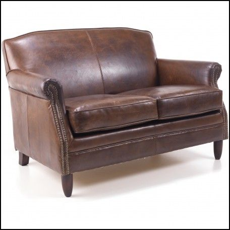 Vintage Style Leather Couch