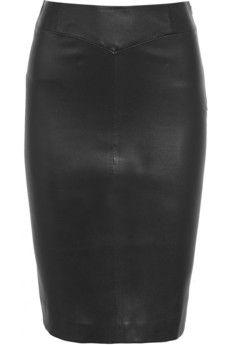 Joseph Claire leather pencil skirt | NET-A-PORTER