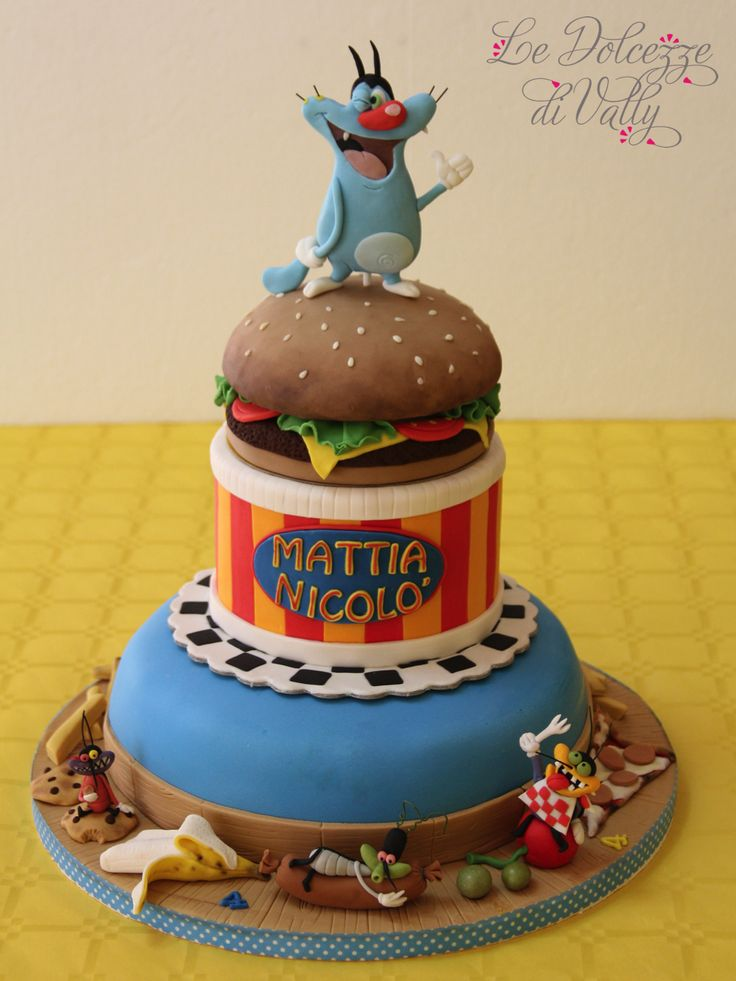 Oggy and the cockroaches cake - ❤❤