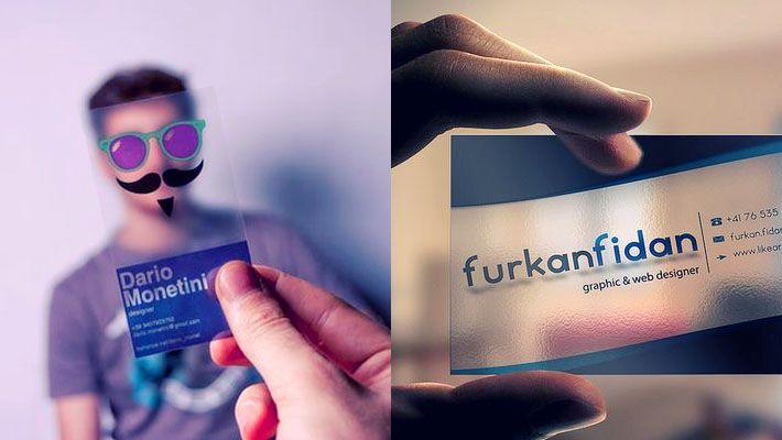 transparent business card design