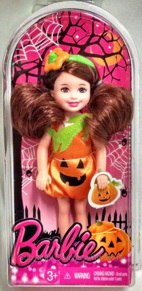 Barbie Happy Halloween Chelsea Small Holiday Doll Pumpkin