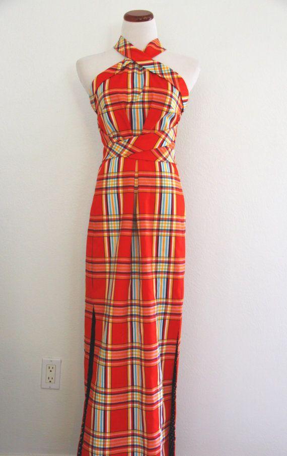 S Plaid Fashion Dress
