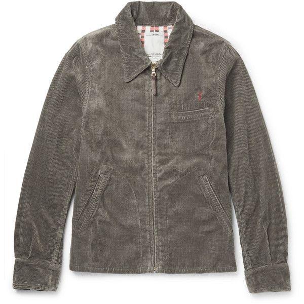 visvim Cotton-Blend Corduroy Jacket ($1,405) ❤ liked on Polyvore featuring men's fashion, men's clothing, men's outerwear, men's jackets, mens light weight jackets, mens fleece lined jacket, mens sherpa lined corduroy jacket, mens corduroy jacket and mens lightweight jacket