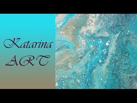 (3) Blue lagoon 2, fluid acrylic medium, abstract - YouTube