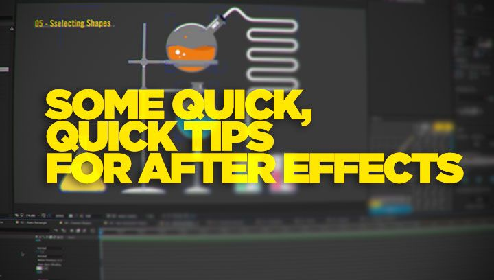 WorkBench's Joe Clay has a look at some nice random tips for After effects, mostly dealing with motion graphics and vector / shape layer things.