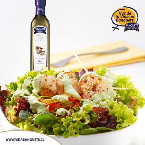 Aceite de Oliva Extra Virgen con sabor a Ajo - 250 ml / ¡Haz de tu vida un verdadero Banquete! / www.banquete.cl