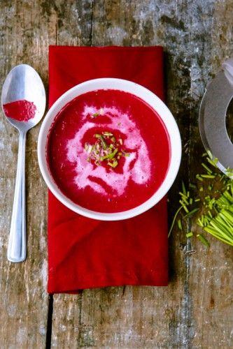 Rote-Beete-Suppe mit Ingwer und Orange