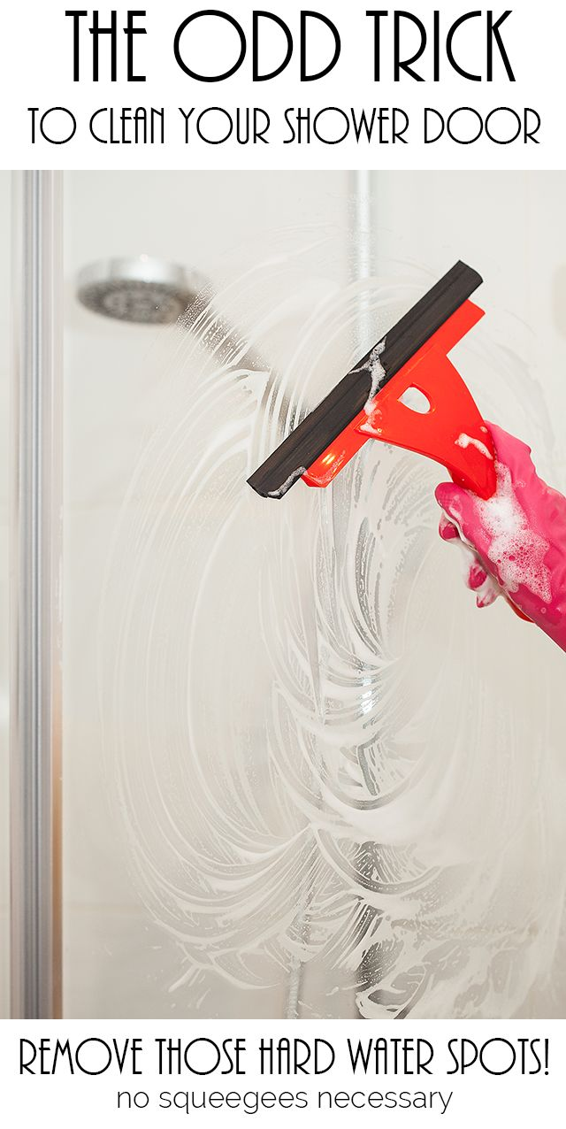Great The Odd Trick To Clean Your Shower Door