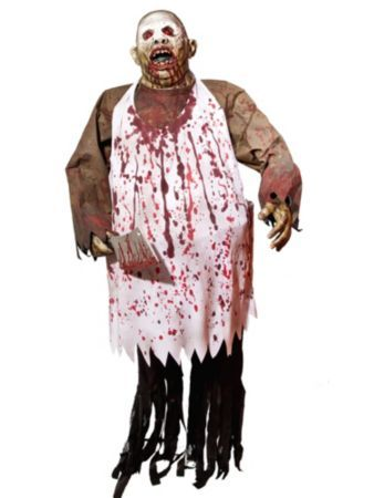 6 chopping brock bloody butcher prop halloween decorations at frightcatalogcom - Fright Catalog Halloween Decorations