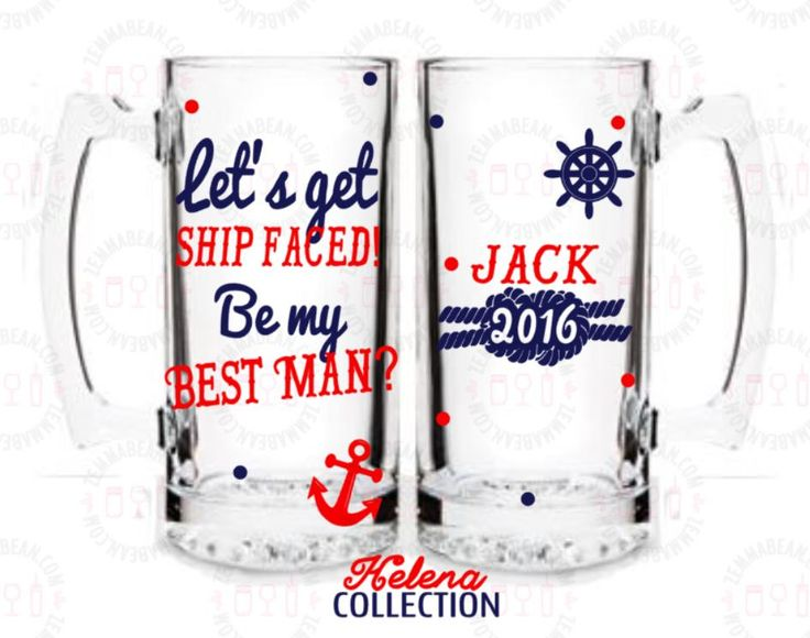 Nautical wedding - be my groomsman - Nautical Wedding favors - Nautical wedding decor - Nautical wedding - will you be my groomsman? - Be my best man? Beer mug - Helena collection by ZemmaBean on Etsy