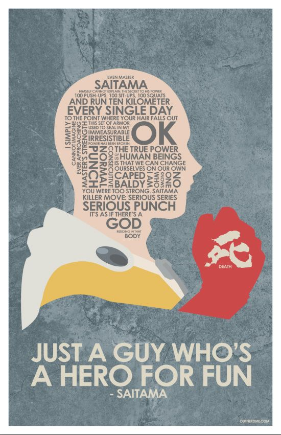 One Punch Man quote poster #onepunchman #saitama #hero