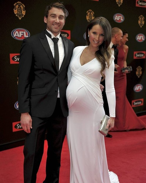 Geelong Footballer Corey Enright With Wife Renee