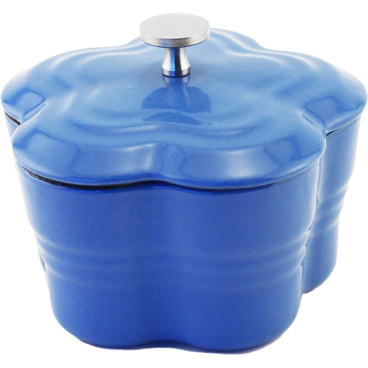Cast Iron Blossom Casserole Blue - Overstock™ Shopping - Great Deals on BergHOFF Specialty Bakeware
