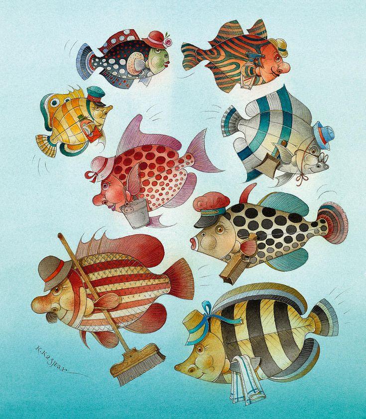 Underwater Geschichte 01 Painting - Underwater Geschichte 01 Fine Art Print