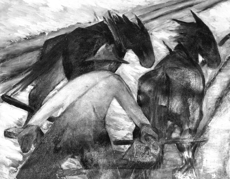 Plowing with team of horses