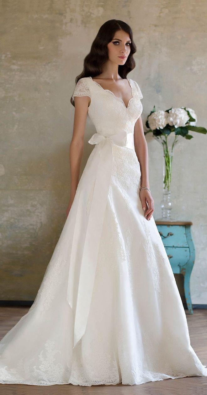 Beautiful, mostly modest, wedding dress