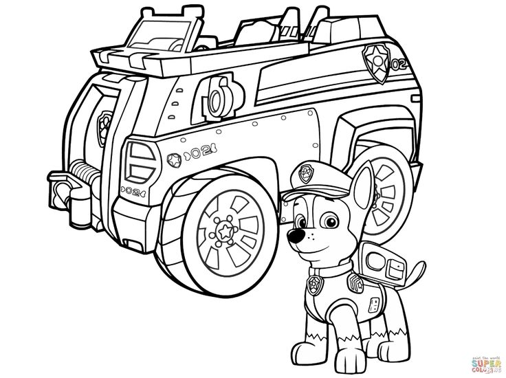 Coloring Pages Of Cars And Trucks Unique Paw Patrol