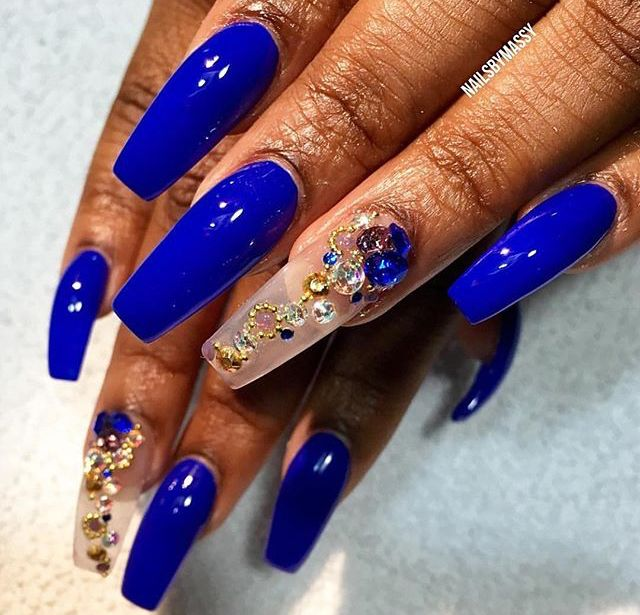 Follow Me Cold Princess For More Baddie Pins You Can T Save My Pin But Don T Follow Me Like Give My Creds Long Nails Blue Nails Long Nail Art