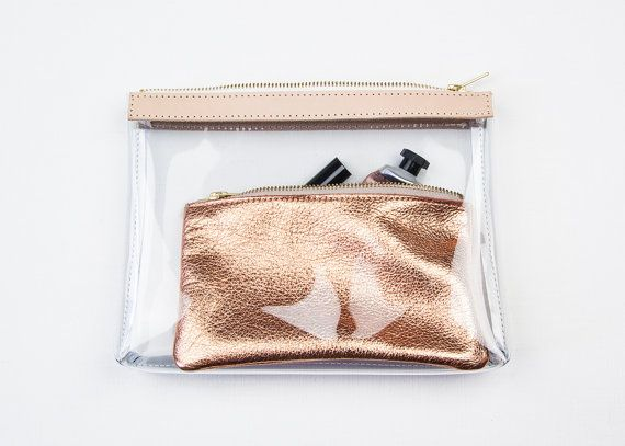 Hey, I found this really awesome Etsy listing at https://www.etsy.com/au/listing/150296666/kate-clear-makeup-bag-clear-clutch
