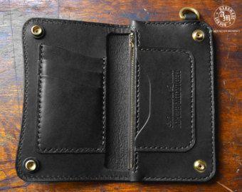 Medium Midnight Black Trucker Wallet Concealed