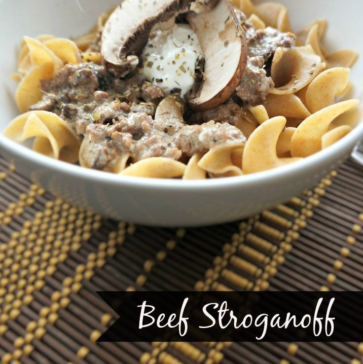 An updated version of a classic beef strognoff. A creamy gravy tossed with fresh mushrooms and beef and served over egg noodles is a hearty, comforting dish that is made with wholesome ingredients you can feel proud to serve your family or friends.