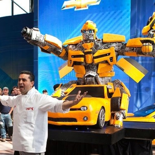 Ok how awesome is this- Transformer Bumblebee Cake by Cake Boss.  This is Tekoa's dream cake for his birthday... shouldn't be too hard to make right?! ha!
