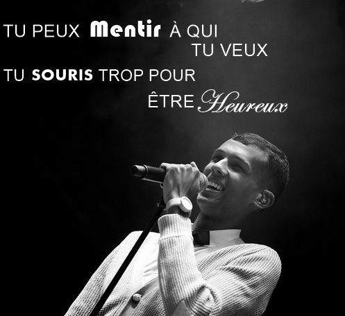 You can lie to whoever you want. You smile too much to be happy. #stromae #sommeil