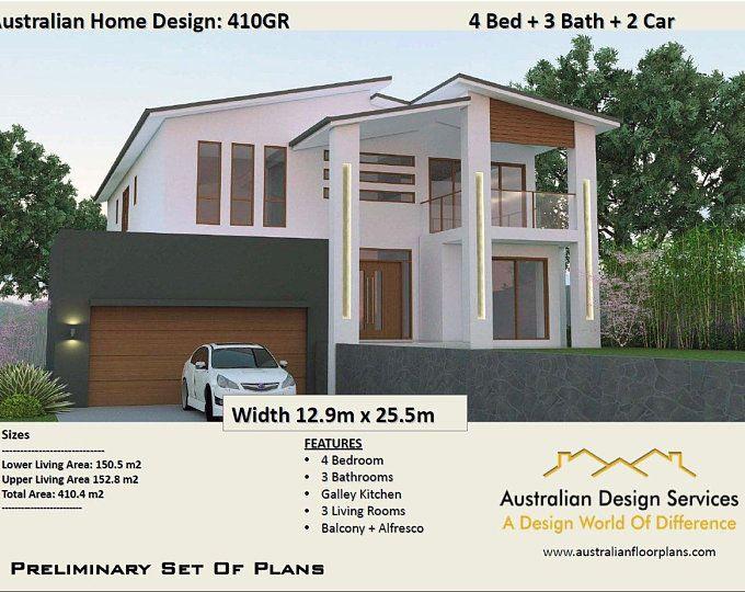 397mt Modern Concept House Plans For Sale 6 Bedrooms Etsy House Plans For Sale Modern House Plans House Plans