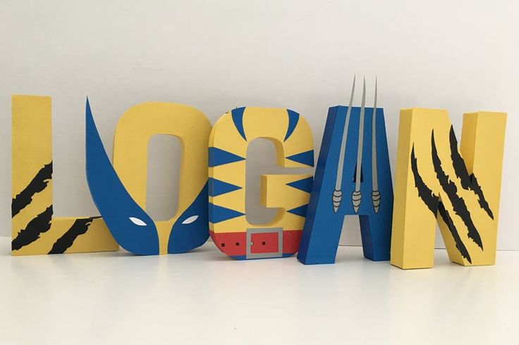 Wolverine Paper Mache Letters - 5-Letter Name