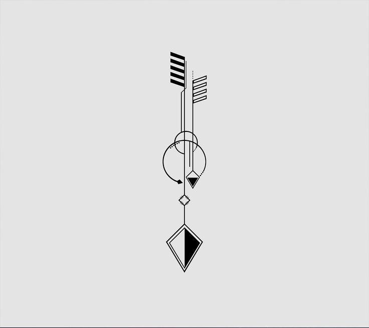 nice Geometric Tattoo - Arrow tattoo idea ...