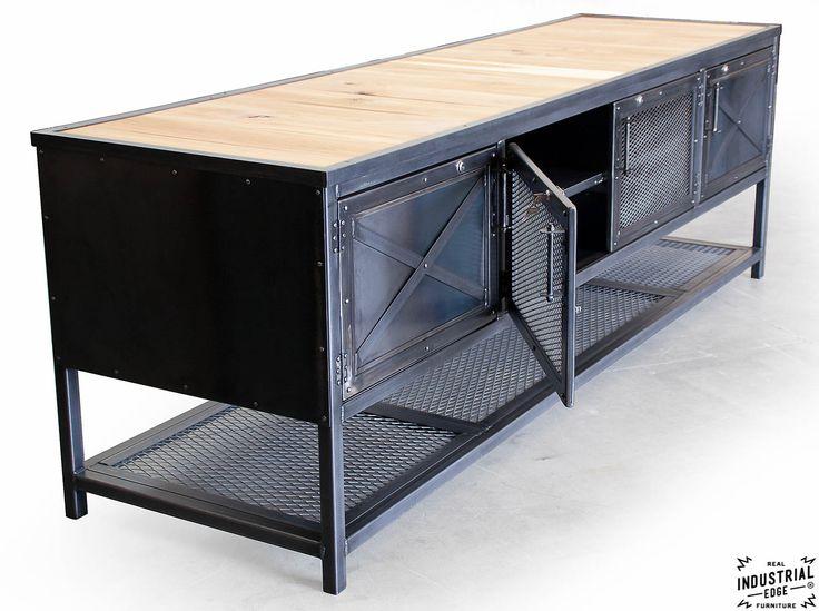 Custom Industrial Kitchen Island / Reclaimed Wood & Steel – Real Industrial Edge Furniture | Custom, Industrial, Vintage, Handmade