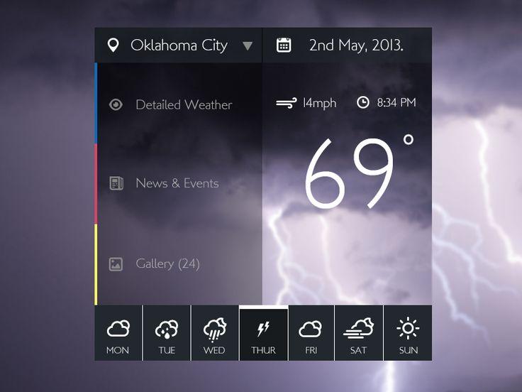 Weather widget by Simeon Kachikwu