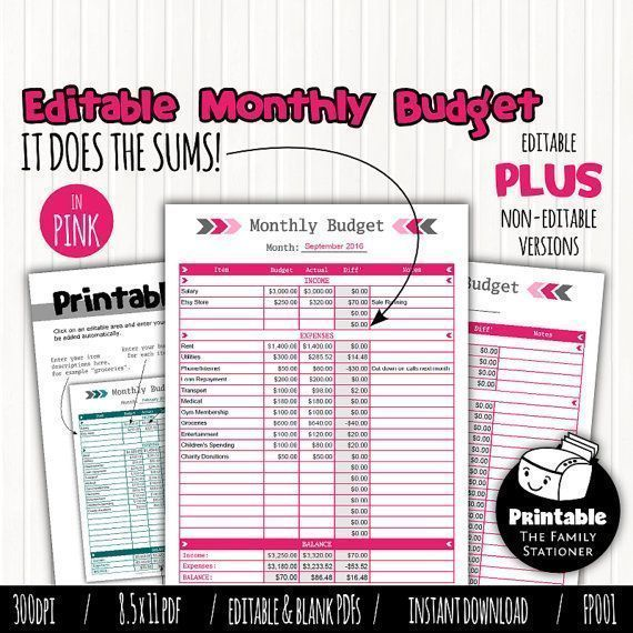 Best 25+ Monthly budget sheet ideas on Pinterest Monthly budget - monthly budget