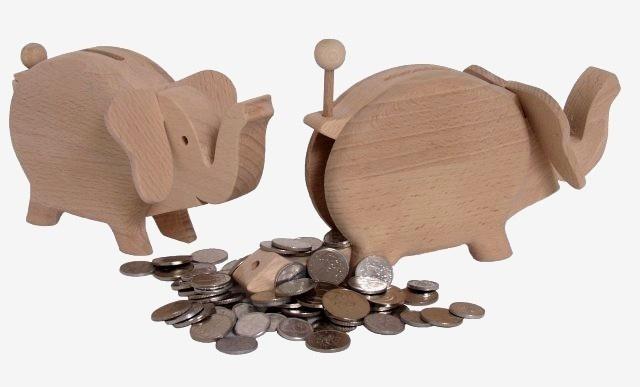 Wooden Elephant Money Box