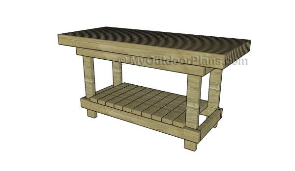 2x4 workbench plans outdoor plans pinterest for 2x4 furniture plans free