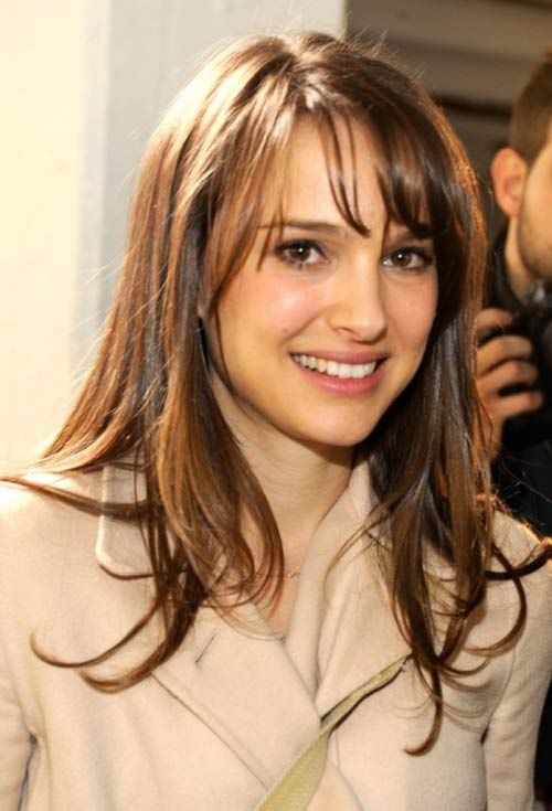 20 Terrific Hairstyles For Long Thin Hair Bangs Pinterest Hair