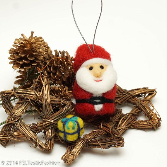 Needle Felting Kit fai da te - Santa 3D lana fascino (+ Bouns regalo) - nave da Stati Uniti d