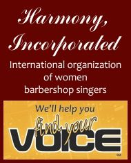 Women's A Cappella and Barbershop Chorus! Find your voice!