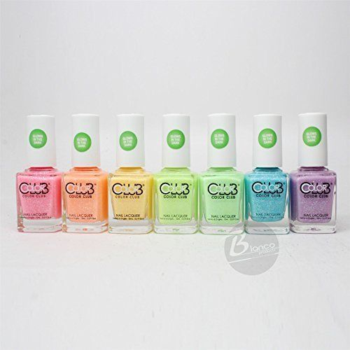 Color Club glow in the dark Nail Polish 2015 Neon Set of 7 colors * Learn more by visiting the image link.