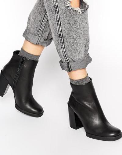 miista skye leather heeled ankle boots  black #ankleboots #heeledboots #heeledankleboots #boots #heels #covetme