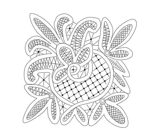 Ravelry: Fleur de lis Romanian Point lace doily rpl pattern by Wendy Harbaugh
